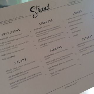 Strand menu 1